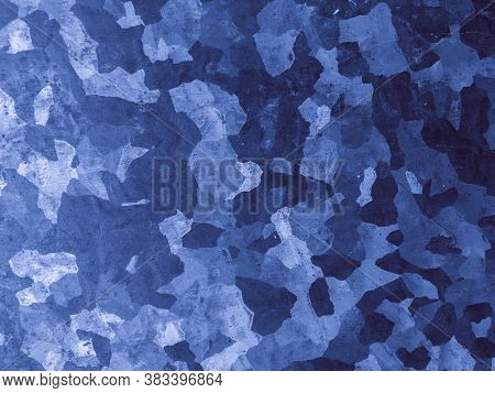 Watercolor Marine Camo. Navy Military Textile. Camouflage Illustration. Abstract Soldier Design. Mar
