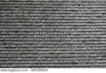 Wooden Wall On An Old Wooden House In Tyrol Austria
