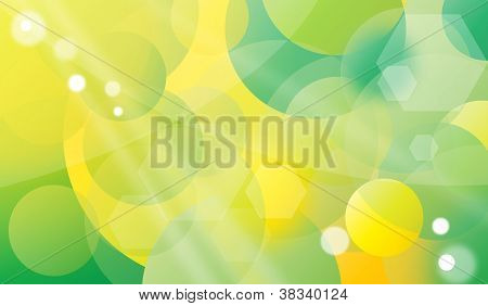 Spring bubble background
