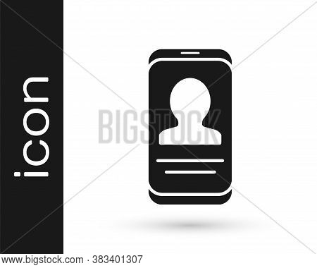 Grey Mobile With Resume Icon Isolated On White Background. Cv Application. Searching Professional St