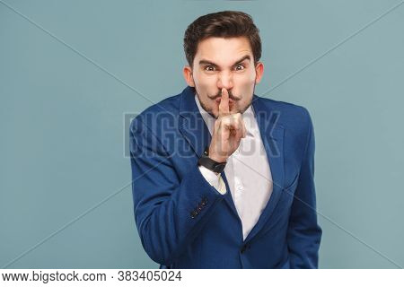 Man Showing Shh, Silence Sign