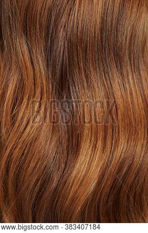 Curly Orange Hair Texture