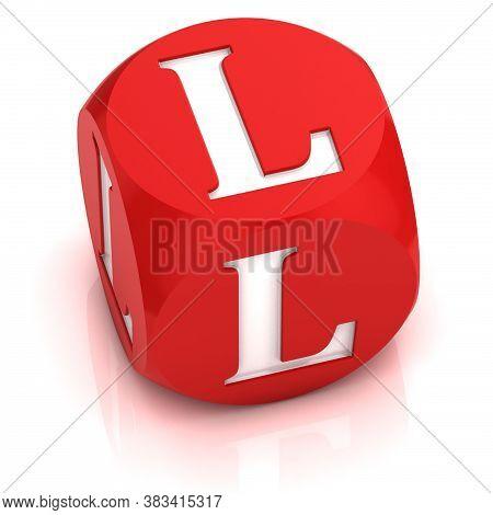 Dice3d  Font Letter L, Three Dimensional Object