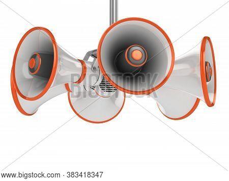 Loudspeaker Isolated On White Background 3d Illustration