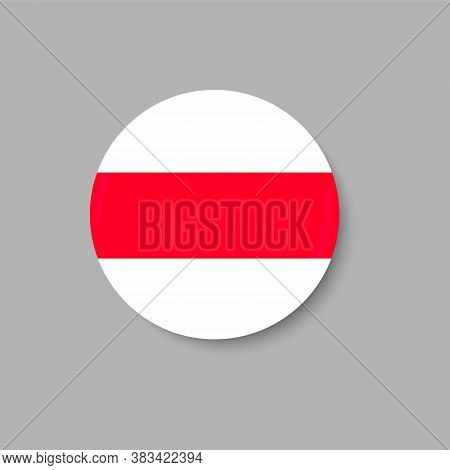 National, Historical Flag Belarus, White-red-white. Vector Illustration. Free And Independent Countr