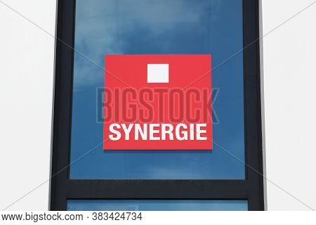 Vienne, France - June 7, 2020: Synergie Logo On A Window. Synergie Is A French Group Specializing In