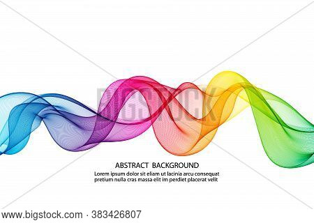 Abstract Horizontal Smoky Rainbow Wave Vector Design