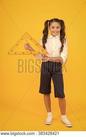 Triangle Right Angle. Math Stem Architecture Faculty. Measuring Equipment. Kid Cute School Student S