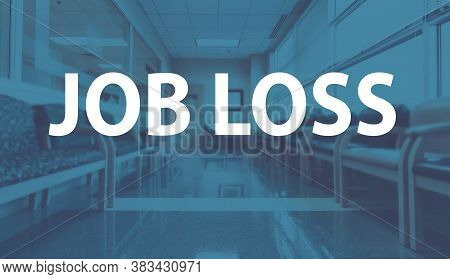 Job Loss Theme With A Medical Office Reception Waiting Room Background