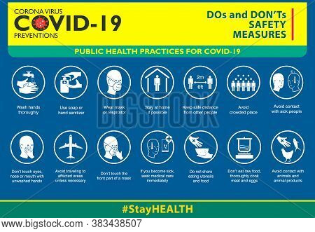 The Do And Don't Safety Measures Or Public Health Practices For Covid-19
