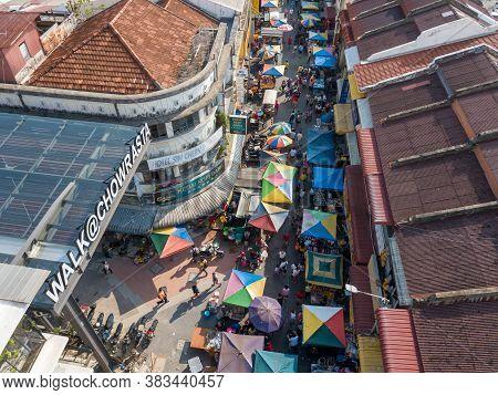 George Town, Penang/malaysia - Jul 20 2019: Outdoor Morning Market At Jalan Kuala Kangsar During Ren