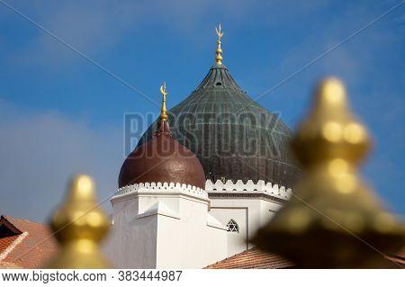 Georgetown, Penang/malaysia - Feb 14 2020: Close Up Detail Of The Kapitan Keling Mosque