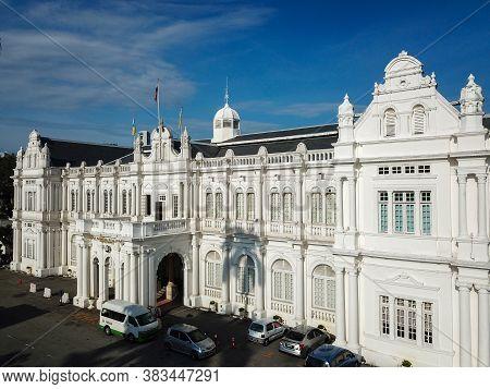 Georgetown, Penang/malaysia - Feb 28 2020: City Hall At Jalan Padang Kota Lama.