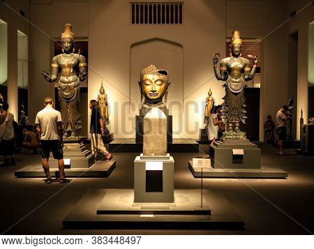 Bangkok, Thailand - Jan 9, 2019: The Largest Collection Of Thai Art And Artifacts In The National Mu