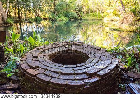 The Holy Well In The Buddha Garden On Doi Chang Of Chiang Rai Province Of Thailand. In The History T