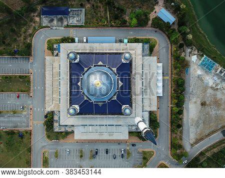 Kepala Batas, Penang/malaysia - Mar 15 2020: Top Down View Abdullah Fahim Mosque