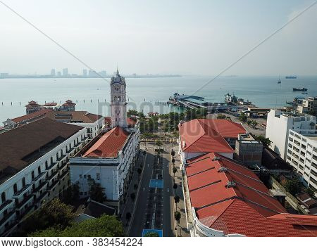 Georgetown, Penang/malaysia - Mar 21 2020: No Car At Street Due To Outbreak Coronavirus Covid19.