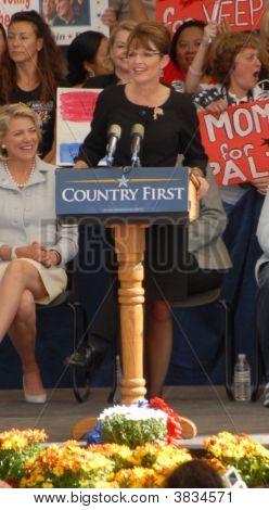 Sarah Palin At  The  Pavilion  Rally In Henderson Nevada