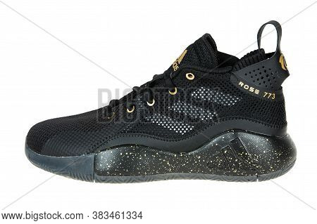 Varna , Bulgaria - August 6, 2020 : Adidas Sport Shoe, Isolated. Product Shot. Adidas Is A German Co