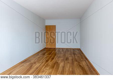 Empty Room. New Home Interior. Wooden Floor.