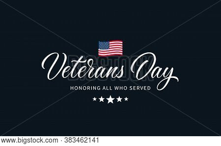 Veterans Day Text With Lettering