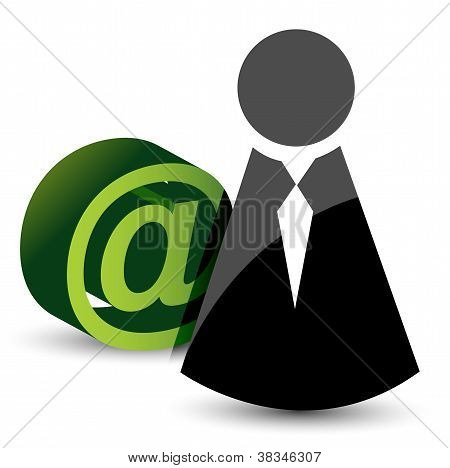 Icon And Att - Mail Sign
