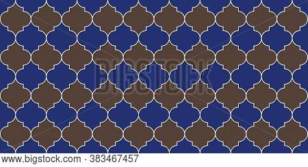 Moroccan Seamless Mosaic Design. Seamless Moroccan Ornament Eid Mubarak Islamic Background. Traditio