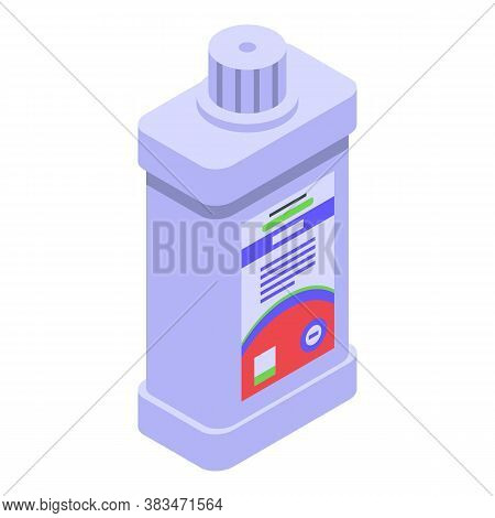 Softener Bleach Icon. Isometric Of Softener Bleach Vector Icon For Web Design Isolated On White Back