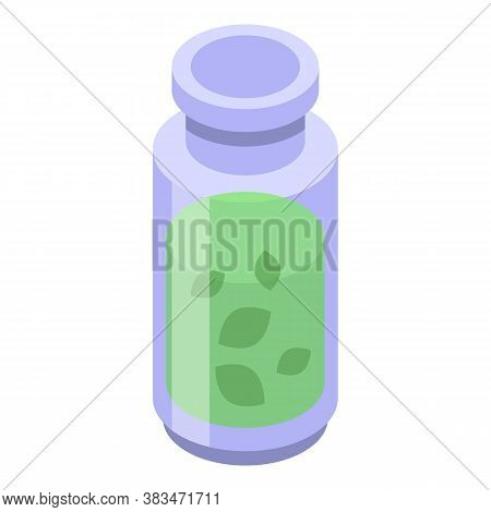 Green Essential Oils Icon. Isometric Of Green Essential Oils Vector Icon For Web Design Isolated On