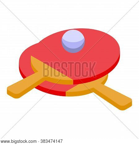 Home Training Ping Pong Icon. Isometric Of Home Training Ping Pong Vector Icon For Web Design Isolat