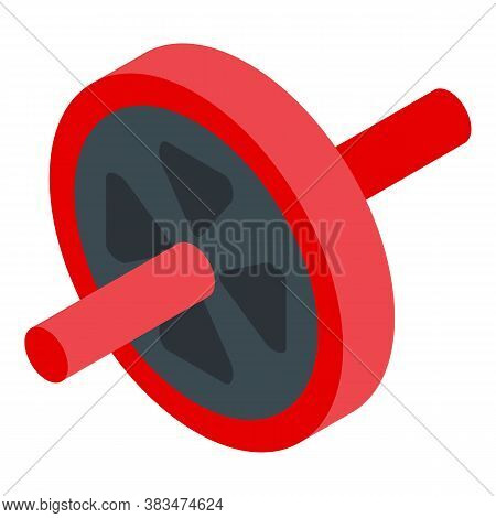 Home Training Abs Wheel Icon. Isometric Of Home Training Abs Wheel Vector Icon For Web Design Isolat
