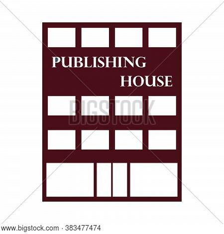 Publishing House Icon. Flat Color Design. Vector Illustration.