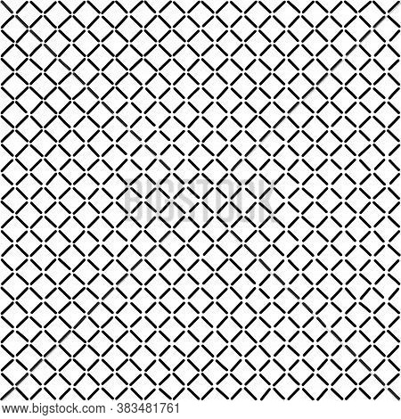 Black Vector Crosses Seamless Pattern.  Design Element For Prints, Backgrounds, Template, Web Pages