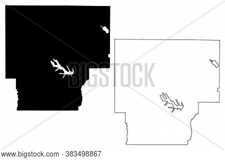 Claiborne County, Louisiana (u.s. County, United States Of America, Usa, U.s., Us) Map Vector Illust
