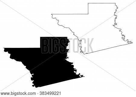 Grant County, Louisiana (u.s. County, United States Of America, Usa, U.s., Us) Map Vector Illustrati