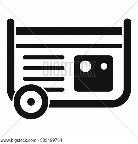 Diesel Generator Icon. Simple Illustration Of Diesel Generator Vector Icon For Web Design Isolated O