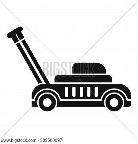 Gasoline Lawn Mower Icon. Simple Illustration Of Gasoline Lawn Mower Vector Icon For Web Design Isol
