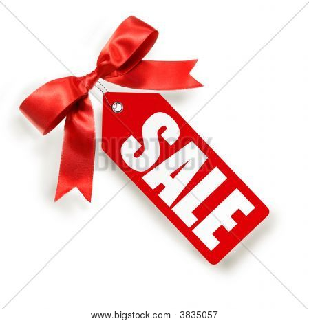 Sales Tag Isolated On White