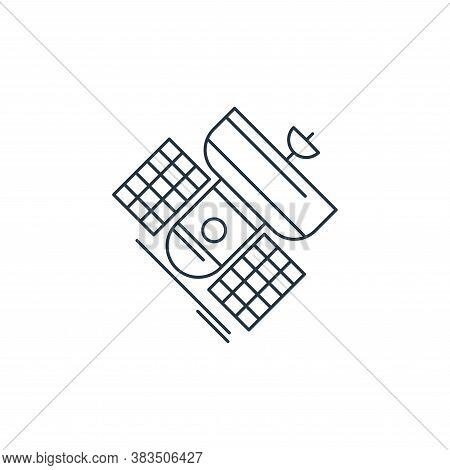 satellite icon isolated on white background from d printing and communication collection. satellite