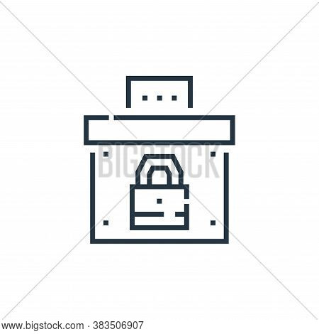 ballot box icon isolated on white background from voting elections collection. ballot box icon trend