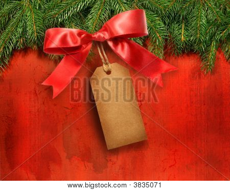 Pine Branches With Gift Tag