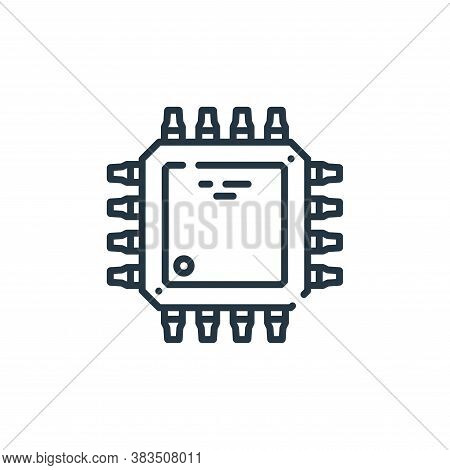 microchip icon isolated on white background from hardware collection. microchip icon trendy and mode