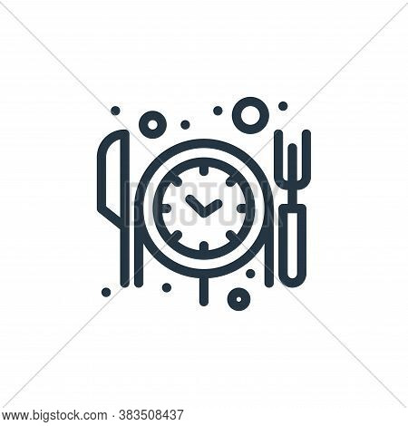 reservation icon isolated on white background from food collection. reservation icon trendy and mode