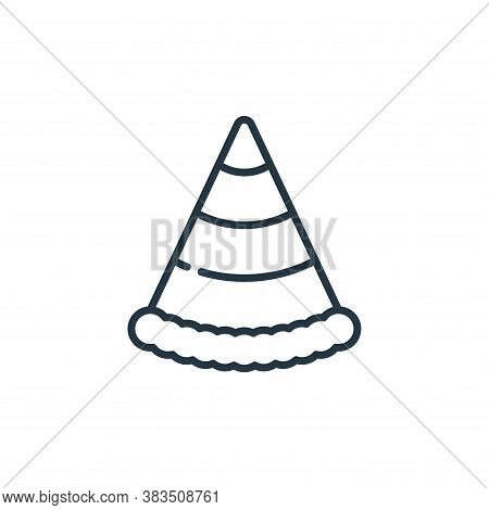 party hat icon isolated on white background from celebration collection. party hat icon trendy and m