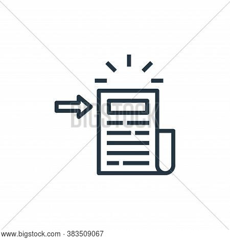 headline icon isolated on white background from detecting fake news collection. headline icon trendy