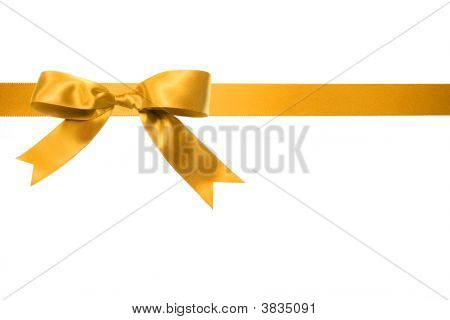 Holiday Gift Bow Isolated On White