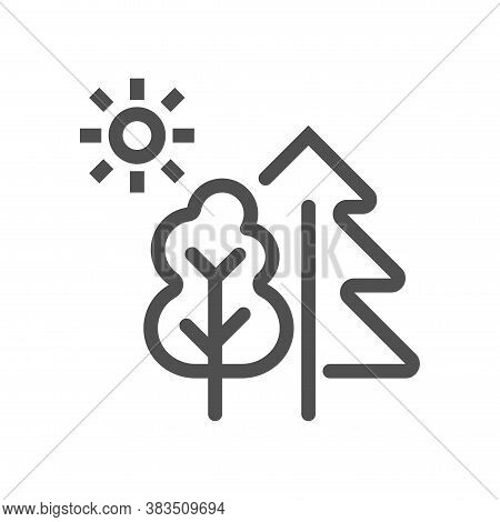 Landscape Icon Vector. Nature Landscape Symbol. Linear Style Icon. Flat Design Element. Editable Str
