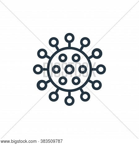 virus icon isolated on white background from coronavirus collection. virus icon trendy and modern vi