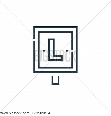 learner icon isolated on white background from driving school collection. learner icon trendy and mo