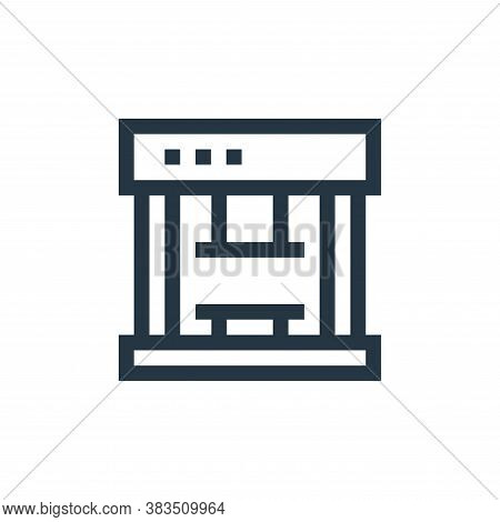 press icon isolated on white background from machinery collection. press icon trendy and modern pres